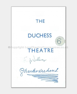 1952 Emlyn Williams Duchess Theatre