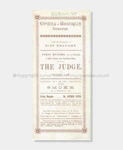 1890 Opera Comique The Judge
