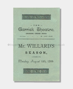 1894 Garrick Theatre, The Professor's Love Story