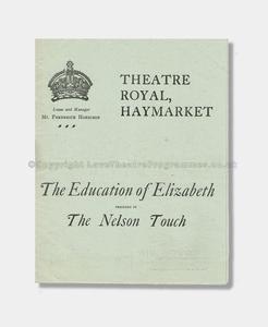 1907 Theatre Royal Haymarket - Education of Elizabeth