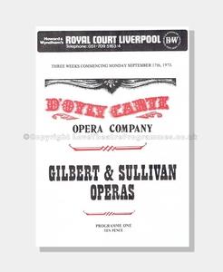 1973 Royal Court Liverpool, D'Oyly Carte