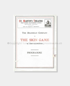 1920 St Martin's Theatre The Skin Game
