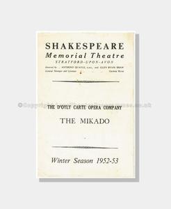 1952 D'Oyly Carte The Mikado