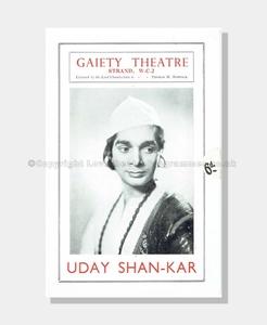 1937 UDAY SHAN-KAR Gaiety Theatre