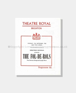 1960 THE FOL-DE-ROLS Theatre Royal Brighton