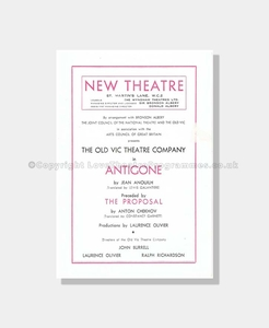 1949 ANTIGONE New Theatre