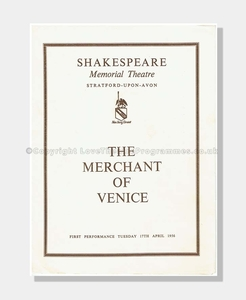 1956 MERCHANT OF VENICE Shakespeare Memorial Theatre