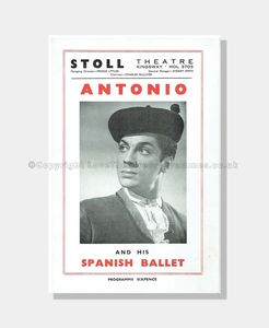 1949 Antonio and his Spanish Ballet, Stoll Theatre