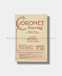 1909 WIDOWERS HOUSES Coronet Theatre