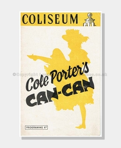 1954 COLISEIUM Cole Porter's Can-Can