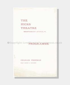 1907 BREWSTERS MILLIONS Hicks Theatre
