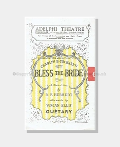 1947 BLESS THE BRIDE Adelphi Theatre