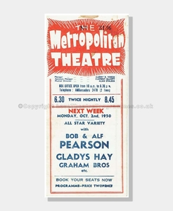 1950 HARRY SECOMBE Metropoliton Theatre