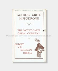 1950 THE MIKADO Golders Green Hippodrome