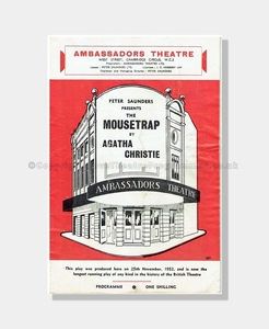1967 THE MOUSETRAP Ambassadors Theatre