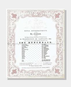 1860 WINDSOR CASTLE Royal Command The Hunchback