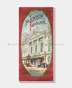 1912 LONDON PAVILION Music Hall