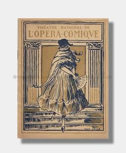 1921 LA TOSCA Theatre National de L'Opera-Comique