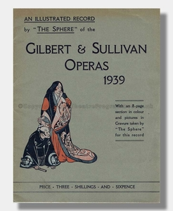 1939 SPHERE ILLUSTRATED RECORD Gilbert and Sullivan