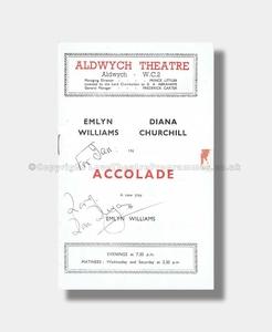 1950 ACCOLADE signed Dora Bryan Aldwych Theatre