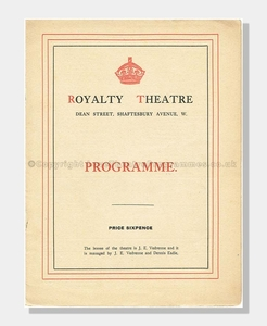 1912 Royalty Theatre, Milestones