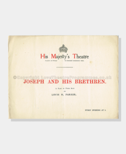 1913, Joseph and Bretheren, 2161910