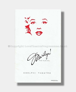 1983 MARILYN the musical Adelphi Theatre