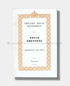 1956 JOYCE GRENFELL Theatre Royal Haymarket