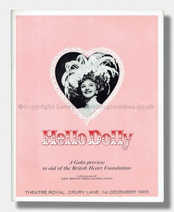 1965 HELLO DOLLY Theatre Royal Drury Lane