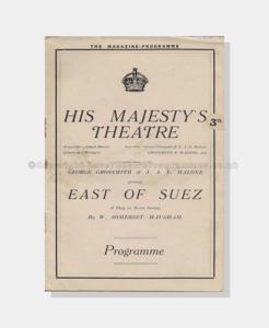 1922 Theatre: His Majesty's Theatre