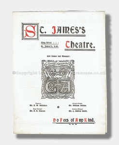 1900 A DEBT OF HONOUR St James's Theatre