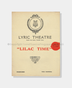 1922 LILAC TIME Lyric Theatre