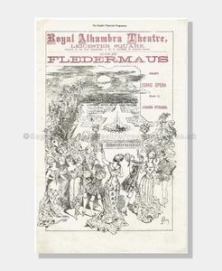 1877 DIE FLEDERMAUS Royal Alhambra