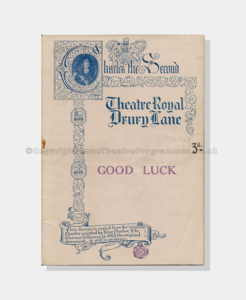 1923, Theatre Royal, Drury Lane, Good Luck