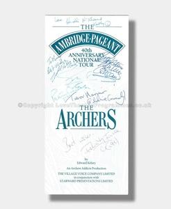 1991 THE AMBRIDGE PAGEANT THE ARCHERS TOUR