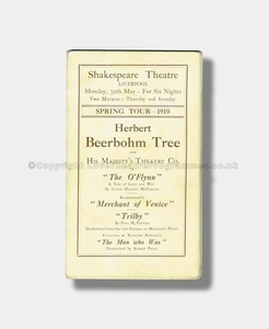 1910 BEERBOHM TREE Shakespeare Theatre Liverpool