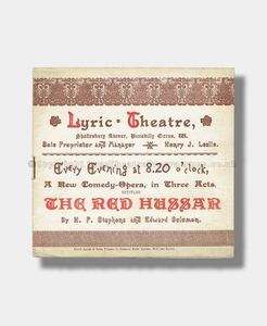 1889 THE RED HUSSAR Lyric Theatre