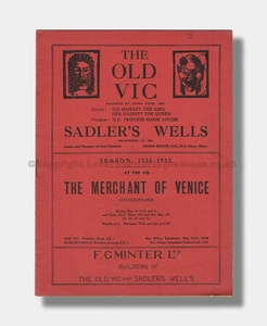 1932-33 THE MERCHANT OF VENICE The Old Vic & Sadler's Wells