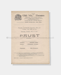 1926 ,The Old Vic,Faust