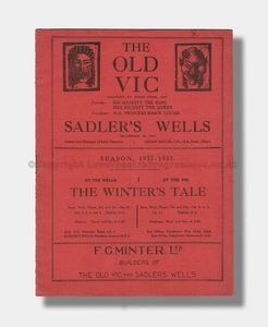1932-33 THE WINTERS TALE The Old Vic & Sadler's Wells